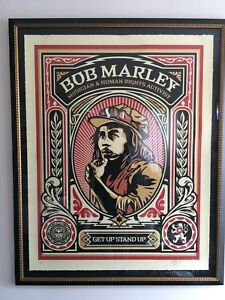 RARE!!!  Shepard Fairey Bob Marley Stamp 2004 (Signed 11 of 50)