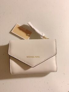 MICHEAL Micheal Kors Women Small Leather Envelope Wallet White
