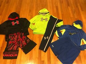 Lot of 6 boys size large UNDER ARMOUR & NIKE YL & YXL Sweatshirts  & Bottoms