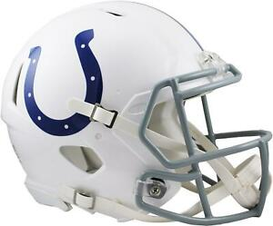 Riddell Indianapolis Colts Revolution Speed Full-Size Authentic Football Helmet