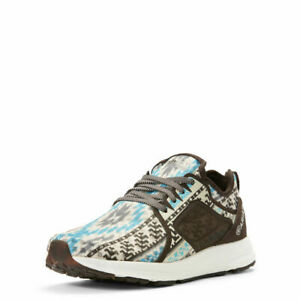 Ariat Women's Fuse Turquoise & Brown Aztec Athletic Shoes 10027321
