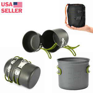 Camping Cookware Set Essential Camping Backpacking Gadget USA Stock