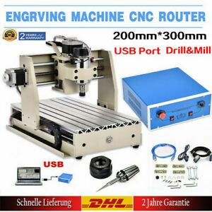 300W VFD 3Axis CNC 3020T Router Engraving Machine Mill Artwork Carving Cutter