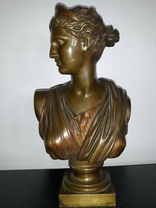 Rare~TIFFANY & Co Bust Bronze Roman 1920's Antique
