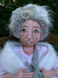 PRiMiTiVe FoLk ArT ~ DOLL ~ LARGE  50 inches~  ORIGINAL ~Hand Painted ~ OOAK