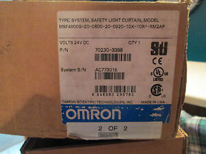 OMRON-STI MSF4800S-20-0600-20-0920-10X-10R-RM2AP SAFETY LIGHT CURTAIN KIT (NEW)