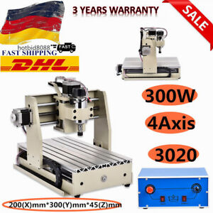 4Axis 3020 Router Engraving Drilling Machine Carving Machine 300W FAST