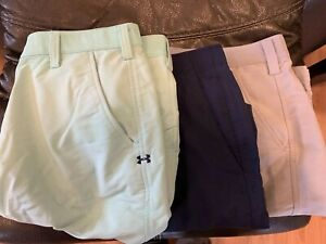 Under Armour Golf Shorts 36 Lot Of 3