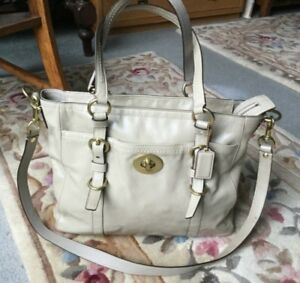 Coach Patent Leather Tote Shoppers with Detachable Shoulder Strap