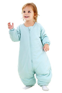 Baby Sleep Bag with Feet Winter Wearable Blanket with Legs Sack for Toddler