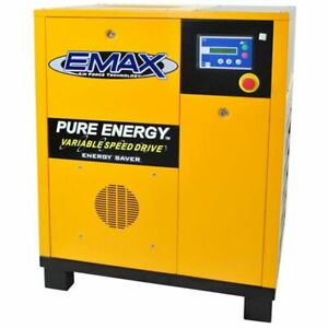 EMAX 20-HP Tankless Rotary Screw Air Compressor with Variable Speed Drive (23...