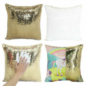 10x Gold Blank Reversible Sequin Swipe Pillow Cover Case Heat Press Sublimation