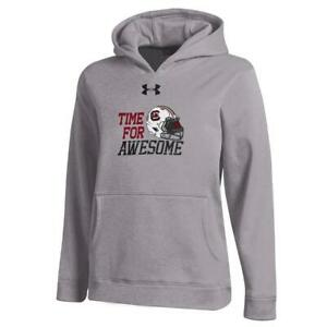 Youth Heather Gray South Carolina Gamecocks Under Armour Hoodie
