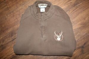 Columbia Hunting Riverlodge Fleece Brown Embroidered Deer Size XL Pullover