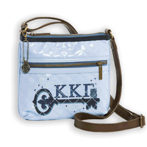 NWT Kappa Kappa Gamma CROSS BODY BAG PURSE Adjustable Leather Strap LICENSED