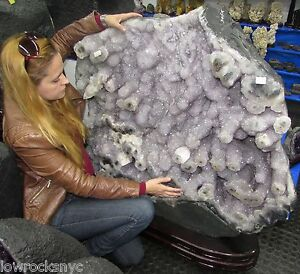 Stunning*GIANT IN THE WORLD AMETHYST FLOWERS Stalactite 335Kgs = 739Lbs free S