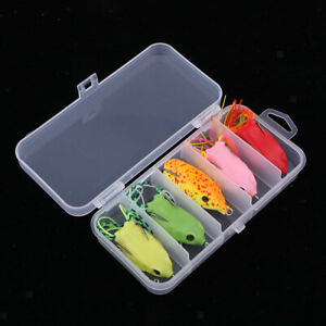 5x Topwater Frog Fishing Lure for Bass Pike Snakehead Saltwater Freshwater