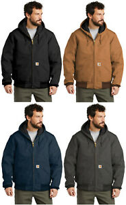 Carhartt Quilted Flannel Lined Duck Active Jacket J140 Regular Tall Work Winter