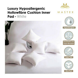 Extreme Fill Plump Hollowfibre Cushion Pads Inners Fillers Scatters All UK Sizes