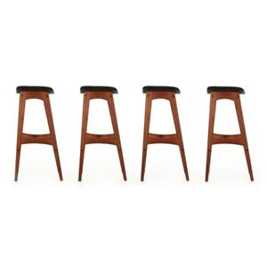 Set of Four Mid Century Danish Modern Barstools by Johannes Andersen circa 1961
