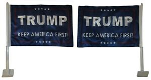 12x18 Trump Keep America First! Blue Double Sided Knit Car Vehicle 12