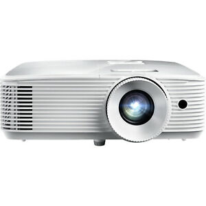 Optoma 3400 Lumens 1080p Home Theater Projector -White (HD27HDR) Refurbished