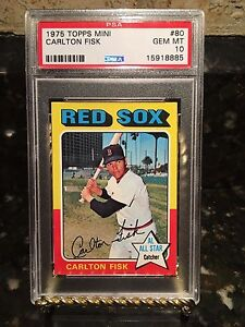 1975 Topps Mini Carlton Fisk #80 PSA 10 Gem Mint Red Sox