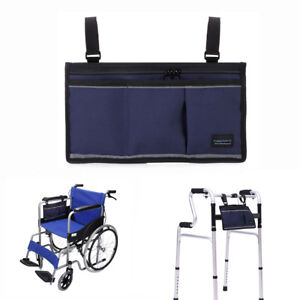 Wheelchair Walker Bag Electric Scooter Bag Travel Carry Under Bag Armrest Pouch C $23.99