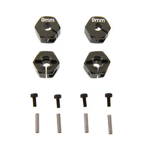 Atomik Alloy Hex 12mm x 9mm 1:10 Axial Wraith Grey Replaces AX30427 AX30429 $8.49