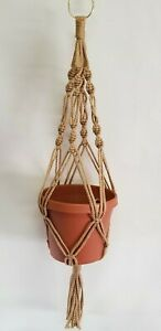 MACRAME PLANT HANGER 24 inch Vintage Spiral Style - Choose Color