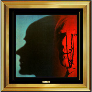 Andy Warhol Hand Signed Color Lithograph The Shadow Self Portrait Framed Artwork