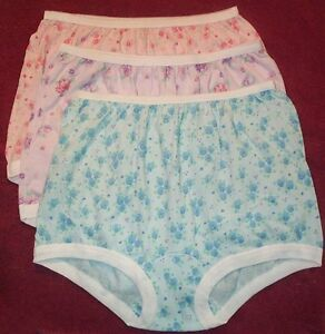 3 Pair 100% COTTON  BAND LEG PANTY Size 13 in Assorted Prints U.S.A. Made