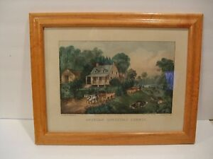 Antique Currier And Ives Original Lithograph 1868