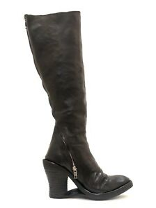 *RARE* CAROL CHRISTIAN POELL KNEE HIGH BLACK LEATHER BOOTS Sz 37 CCP