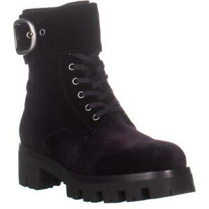 Coach Lucy Lace-Up Combat Boots Dark Wisteria 9.5 US