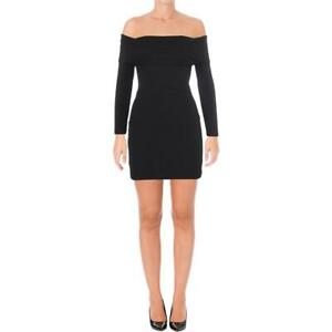Nookie Womens Black Mini Off-The-Shoulder Party Cocktail Dress XS BHFO 5332