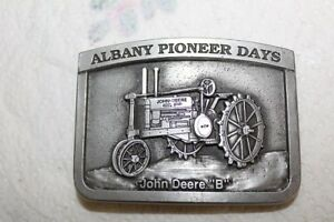 1993 Albany Pioneer Days Belt Buckle John Deere B 135 Limited Edition Spec Cast