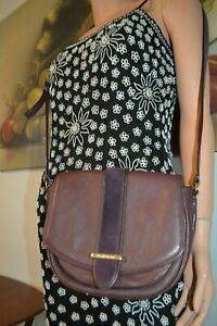Kate Spate New York Cross body  MessengerShoulder GOAT Leather Bag Purple