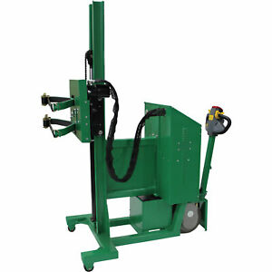 Valley Craft Power Drive Roto Drum Lifter- 800-Lb Cap 90in Lift 360° Rotation