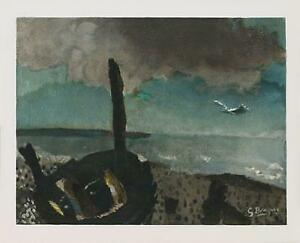 Georges Braque Boat On A Shore In Brittany Lithograph Edition of 300