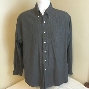 Brooks Brothers Sport Shirt Mens All Cotton Blue Green Check Button Down Medium $18.99