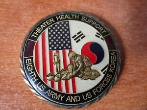 Theater Health Support Eighth US Army & USFK Command Surgeon Challenge Coin 4711