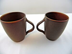 Pottery Barn ELLIPSE Brown Mug 4 1/8