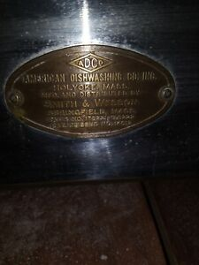 Smith & And Wesson 1930 Dishwasher Rare Antique