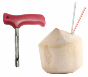 Karma Kitchen Coconut Opener Knife Tool for Opening Young Coco Water Tap