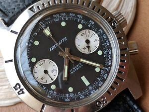 Vintage Fregatte Two-Register Chronograph wDivers All SS CaseTropic BandV7733