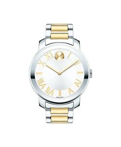 *BRAND NEW* Movado Women's Bold Two Tone Stainless Steel Bracelet Watch 3600208