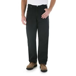WRANGLER Riggs Workwear Relaxed Fit Carpenter Black Pants Mens 38x34 3WO20BL