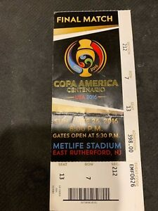 COPA AMERICA CENTENARO-USA 2016  FINAL MATCH- CHILE DEFEATS ARGENTINA -TICKET