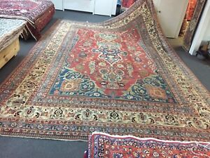 On Sale Genuine Rare Antique Hand Knotted Persian Dorokhsh Rug Carpet 13'8x20'5